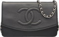 "Luxury Accessories:Accessories, Chanel Black Caviar Leather Diana Wallet on Chain. ExcellentCondition. 7.5"" Width x 5"" Height x .5"" Depth. ..."