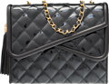 "Luxury Accessories:Bags, Chanel Black Quilted Patent Leather Shoulder Bag with GoldHardware. Very Good to Excellent Condition. 8.5"" Width x 7""Hei..."