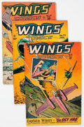 Golden Age (1938-1955):War, Wings Comics #74-81 Group (Fiction House, 1946-47) Condition:Average VG+.... (Total: 8 Comic Books)