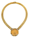 Estate Jewelry:Necklaces, U.S. $20 Gold Coin, Diamond, Gold Necklace. ...