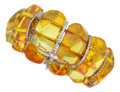 Estate Jewelry:Bracelets, Amber, Diamond, White Gold Bracelet, Aletto Bros.. ...