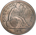 Seated Dollars, 1871-CC $1 -- Re-Engraved, Cleaned -- ANACS. VF Details, Net VG8. ...