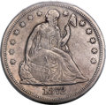Seated Dollars, 1872-CC $1 -- Filed Rims -- PCGS Genuine. XF Details...