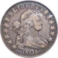 Early Half Dollars, 1805/4 50C O-102, T-5, R.3, VF35 PCGS. CAC....
