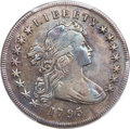 1795 $1 Draped Bust, Centered, B-15, BB-52, R.2 -- Cleaning -- PCGS Genuine. VF Details. From The Kessler Family C...(PC...