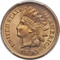Indian Cents, 1893 1C MS66 Red PCGS....
