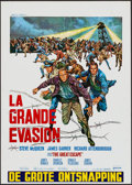 """Movie Posters:War, The Great Escape (United Artists, 1963). Belgian (18"""" X 25.25"""").War.. ..."""