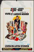 "Movie Posters:James Bond, Live and Let Die (United Artists, 1973). Belgian (14.25"" X 21.5"").James Bond.. ..."
