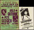 """Movie Posters:Musical, Arlo Guthrie Lot (Various, 1972-1978). Concert Window Card (14"""" X 22"""") & Concert Poster (11"""" X 17""""). Musical.. ... (Total: 2 Items)"""