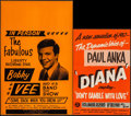 """Movie Posters:Rock and Roll, Bobby Vee & Other Lot (America's Best Attractions, 1968). StockWindow Card (14"""" X 22"""") & British Music Poster (11"""" X 16.5"""")...(Total: 2 Items)"""