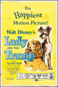 """Movie Posters:Animation, Lady and the Tramp (Buena Vista, R-1962). Poster (40"""" X 60""""). Animation.. ..."""