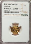 Modern Bullion Coins, Four-Piece 2008-W Gold Buffalo Proof Ultra Cameo Set NGC.... (Total: 4 coins)