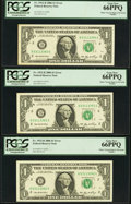 Error Notes:Miscellaneous Errors, Fr. 1932-B $1 2006 Federal Reserve Notes. Nine Consecutive Examples. PCGS Gem New 65PPQ-66PPQ.. ... (Total: 9 notes)