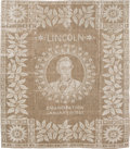 Antiques:Textiles, Abraham Lincoln: Unique Emancipation Textile....