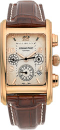 Estate Jewelry:Watches, Audemars Piguet Gentleman's Pink Gold Edward Piguet ChronographWatch. ...