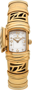 Estate Jewelry:Watches, Ebel Lady's Diamond, Gold Shanta Watch. ...