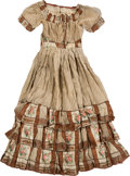 Political:Presidential Relics, Mary Todd Lincoln: Floral Pattern Beige Silk Dress. ...