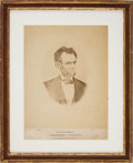 Photography:Official Photos, Abraham Lincoln: Large Mounted Albumen by Warren....