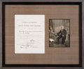 Autographs:Statesmen, Salmon P. Chase: Signed Freedman's Document....