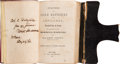 Autographs:Military Figures, Major Robert Anderson: Personally Inscribed Artillery Textbook From the Author....
