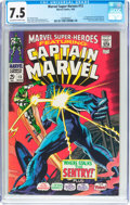 Silver Age (1956-1969):Superhero, Marvel Super-Heroes #13 Captain Marvel (Marvel, 1968) CGC VF- 7.5 Off-white to white pages....