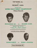 Boxing Collectibles:Memorabilia, 1976 Muhammad Ali vs. Richard Dunn Press Kit....