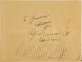 Boxing Collectibles:Autographs, 1981 Muhammad Ali Signed Envelope. ...