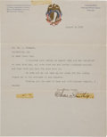 Baseball Collectibles:Others, 1919 Charles Comiskey Signed Letter....