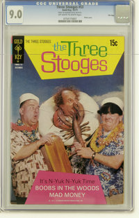 Three Stooges #53 File Copy (Gold Key, 1971) CGC VF/NM 9.0 Off-white to white pages