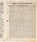 Books:Periodicals, 1830 The Texas Gazette, Vol. 1, No. 22,...