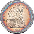 Seated Dollars, 1865 $1 -- Artificial Toning -- NGC Details. Unc....