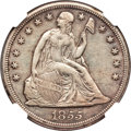 Seated Dollars, 1855 $1 -- Improperly Cleaned -- NGC Details. XF. OC-1, High R.3....