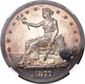 Proof Trade Dollars, 1877 T$1 PR64 Cameo NGC....
