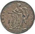 Colonials, 1795 1/2 P Liberty and Security / Irish Halfpenny Mule AU53 PCGS Secure. Baker-31M, W-11020, R.6....