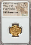 Ancients:Roman Imperial, Ancients: Leo I (AD 457-474). AV solidus (4.50 gm). NGC MS 5/5 -4/5....