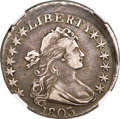 Early Half Dollars, 1803 50C Large 3, Large Reverse Stars, O-103, T-3, R.3 -- Struck10% Off Center -- VF35 NGC....