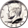 Proof Kennedy Half Dollars, 1964 50C Accented Hair, FS-401, PR68 Cameo PCGS....