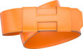 "Luxury Accessories:Accessories, Hermes Orange H Calf Box Leather H Belt. J Square, 2006. VeryGood to Excellent Condition. 2"" Width x 38"" Length. ..."