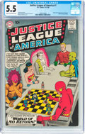 Silver Age (1956-1969):Superhero, Justice League of America #1 (DC, 1960) CGC FN- 5.5 Cream to off-white pages....