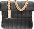 """Luxury Accessories:Accessories, Chanel Black and Beige Quilted Lambskin Leather Shoulder Bag.Very Good to Excellent Condition. 10"""" Width x 9"""" Height x1""""..."""