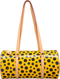 Luxury Accessories:Bags, Louis Vuitton Limited Edition Yellow & Black Infinity DotsMonogram Vernis Leather Papillon 30 Bag by Yayoi Kusama.Excell...