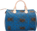 "Luxury Accessories:Bags, Louis Vuitton Limited Edition Blue Infinity Dots Monogram CanvasSpeedy 30 Bag by Yayoi Kusama. Excellent Condition. 12"" W..."