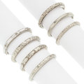 Estate Jewelry:Rings, Art Deco White Gold Rings. ... (Total: 7 Items)