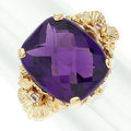 Estate Jewelry:Rings, Amethyst, Zircon, Gold Ring. ...