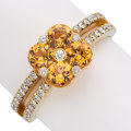 Estate Jewelry:Rings, Spessartite Garnet, Diamond, Gold Ring. . ...