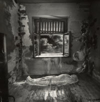 Jan Saudek (Czech, b. 1935) Soul leaves the body (Tribute to Duane Michals) Gelatin silver 12 x 1