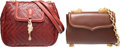 "Luxury Accessories:Bags, Kieselstein Cord Set of Two; Brown & Red Leather Evening Bags.Very Good Condition. 9"" Width x 7"" Height x 3.5"" Depth. 8.5...(Total: 2 )"