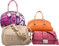 Luxury Accessories:Bags, Christian Dior Set of Four; Pink, Orange, Beige Leather, Canvas& Python Bags. Excellent Condition. Various Sizes. ...(Total: 4 )