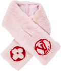 "Luxury Accessories:Accessories, Louis Vuitton Pink & Red Monogram Rex Rabbit Stole. Excellent to Pristine Condition. 4.5"" Width x 34"" Length. ..."