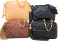 Luxury Accessories:Bags, Chanel Set of Four; Black, Brown and Beige Quilted Lizard, Lambskin& Caviar Leather Camera Bags. Very Good Condition. Var...(Total: 4 )